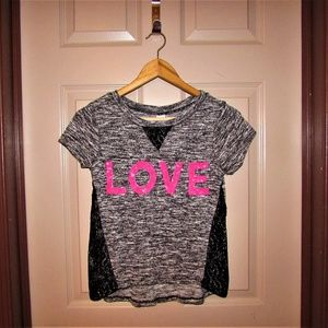 Total Girl Top with LOVE Size XL 16 REG